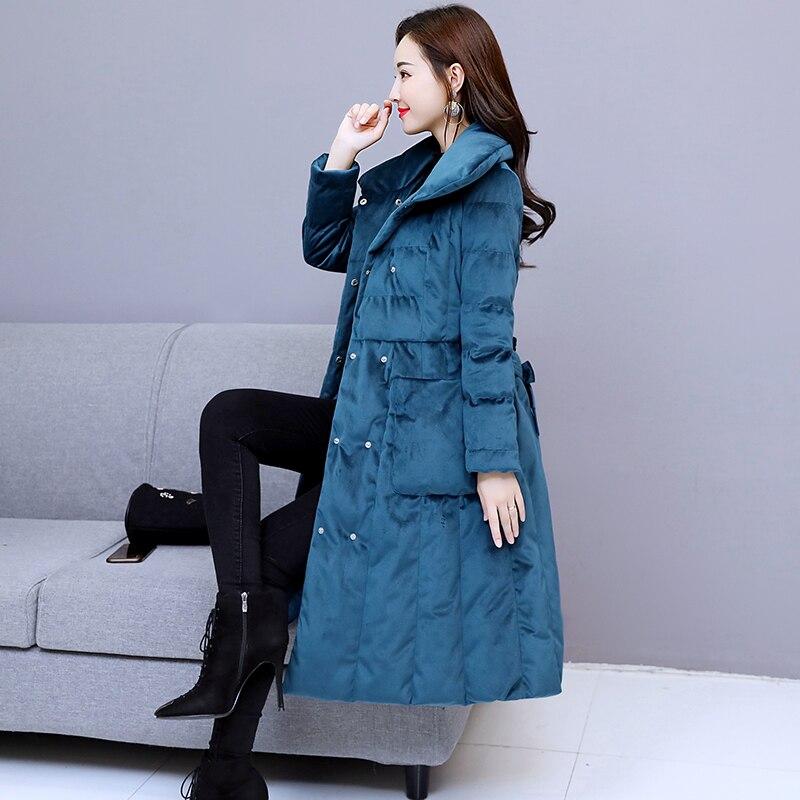 Wmswjh A367 Hiver Red Parka Blue purplish Jaqueta Veste Manteau Avec Longue Épaisse D'hiver Femmes Coton Mode Ceinture De Lady Feminina Chaud ORwqrTO