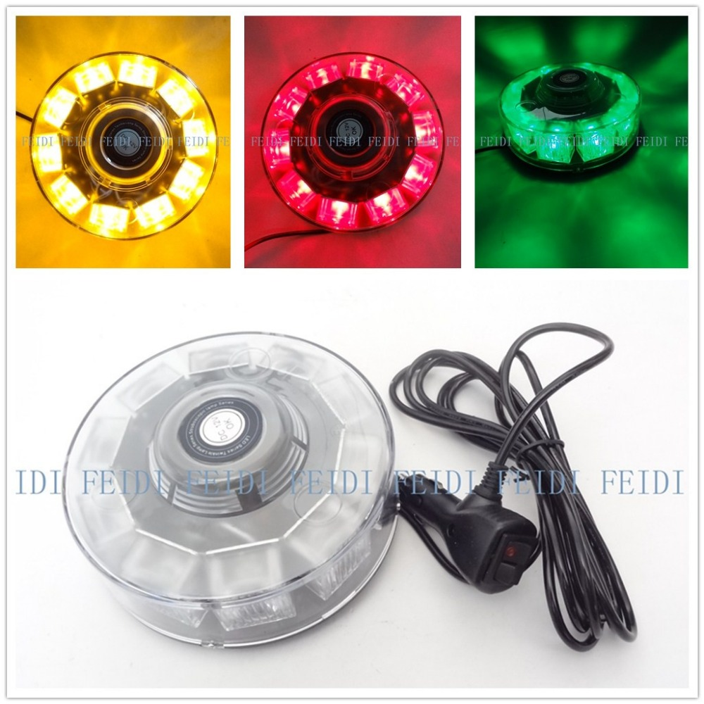 ФОТО 01002 NEW 12V 10W Car Auto LED BEACON Emergency Recovery Flashing Warning Strobe Lights Lightbar Amber red Blue Free Shipping
