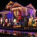 UE 20 M 200 LED Luzes De Natal Ao Ar Livre Ano Novo Twinkle luz da corda Decorativo interior Com Cauda Plug Luces Navidad 10 S