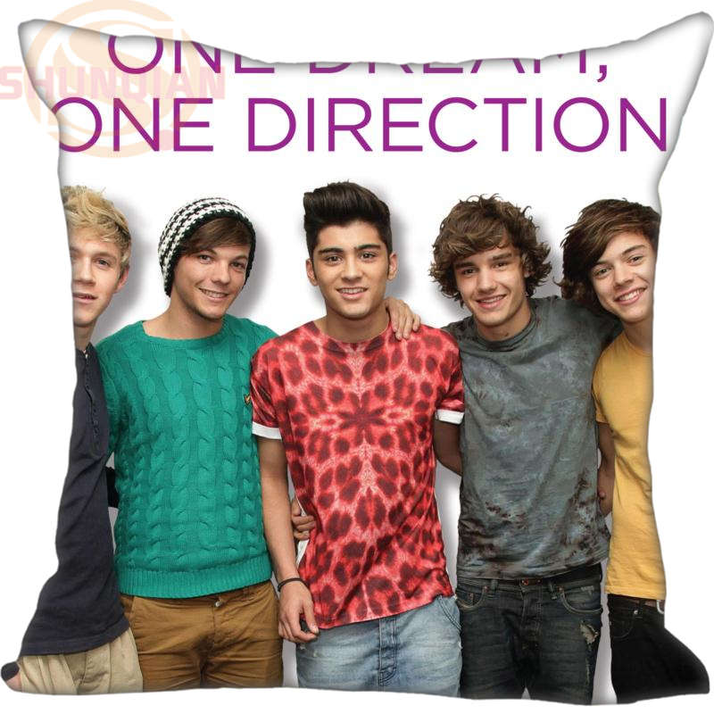 High Quality Custom Decorative Pillowcase One Direction Square Zippered Pillow Cover Print Your image 20X20cm,35X35cm(one side)