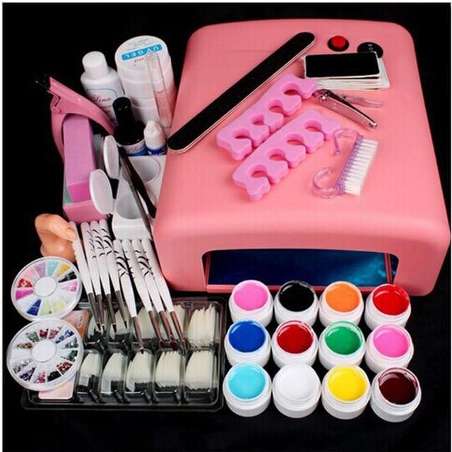 Manicure Set Nail Kit Nail Phototherapy Gel Nail Starter Kits Suit ...