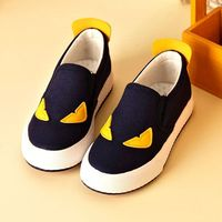 2017 Little Monster Kids Moccasins Boys Girls Canvas Shoes Fashion Cute Causal Shoes Mesh Sneakers Middle