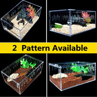 Transparent Pet Reptiles Tank Insect Spiders Lizard Breeding Box Terrariums Acrylic Vivarium Tortoise Scorpion House Cage Decor