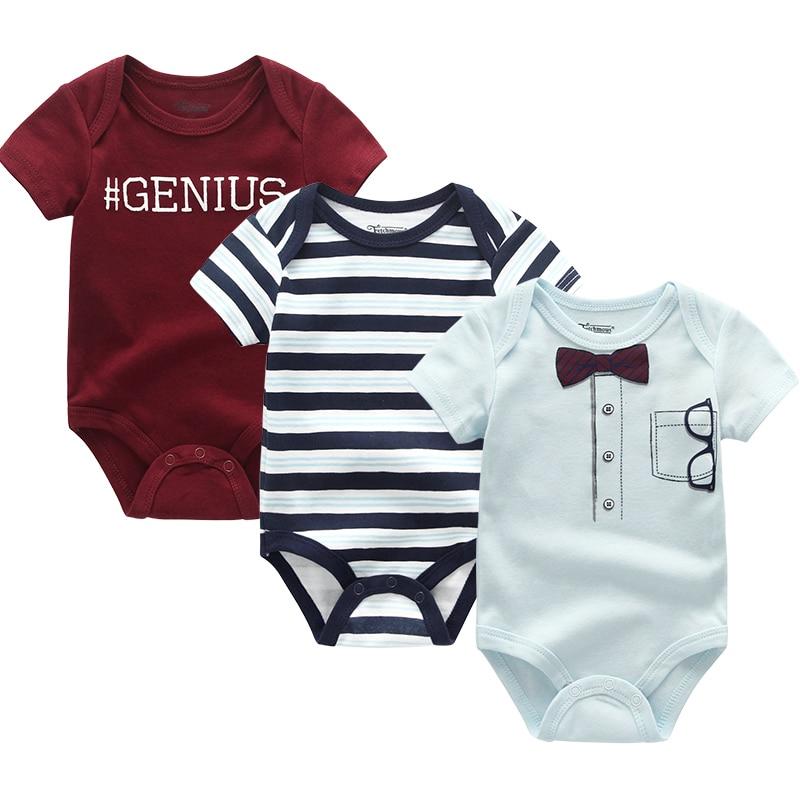2021 3PCS/Lot Baby Boy Clothes BodysuIts Baby Girl Clothes Unicorn Girls Clothing Unisex 0-12M Baby Bodysuits Roupas de bebe 6