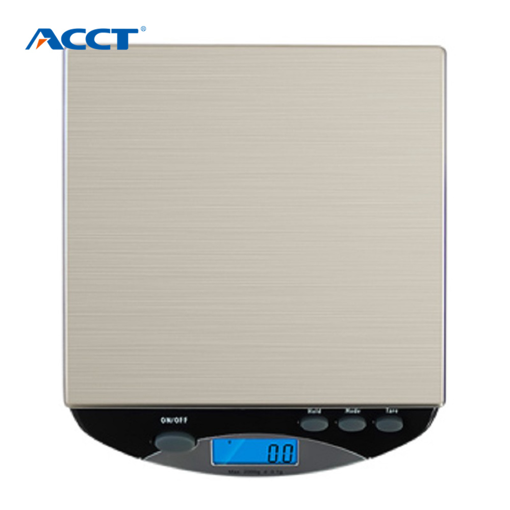 ACCT 6000g / 1g Digital Scale Kitchen Cooking Measure Tools Stainless Steel Electronic Weight LED Display Scale Overload Weight free shipping farmar said electronic electronic scale weight calibration standard weight 100g weight stainless steel href