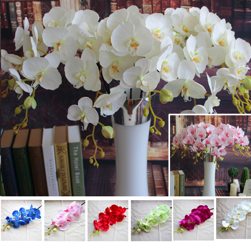 Good Wholesale Cm Artificial Coarse Silk Design Butterfly Orchids Home Wedding Table Decorative Flowers Pcs With Bouquets