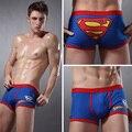 2014 moda y atractivas del hombre del superhombre de la ropa interior del boxeador Basics boxers hombres boxers bragas tamaño L XL pijamas para hombres envío gratis