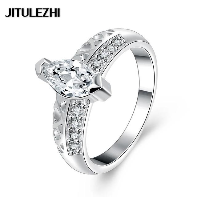 Engagement Rings Silver Plated Jewelry Trendy Anillos De Plata Free Shipping Brazilian Finger