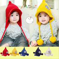 Winter Kids Hats Wool Infant Caps Warm Toddler Headgear Thick Beanies Boys Girls Bonnet Photography Clothes