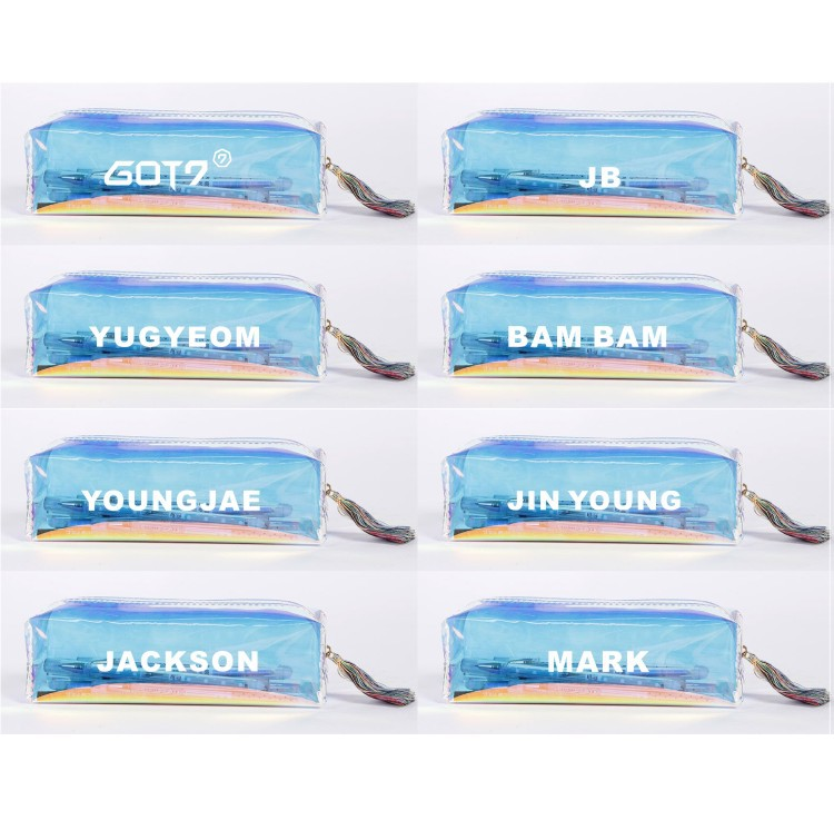 Beads & Jewelry Making Disciplined Got7 Coin Purse Colorful Laser Pencil Case Bird Baby Penbag Accessories Bag Yj040 Jewelry Findings & Components