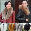 DreamShining Hot Sell Fashion Faux Fox Fur Collar Scarf Shawl Collar Women's Wrap Stole Scarves
