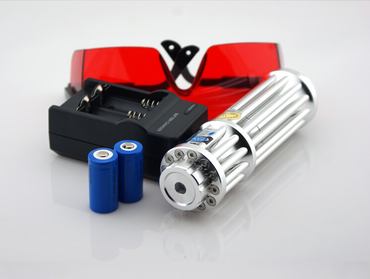 High Quality 100000mw 100W 450nm Blue Laser Pointer Lazer Burning Burn Match/Dry Wood/Candle/Black/Cigarette 5 Caps+Glasses+Gift best military blue laser pointers 100000mw 100w 450nm burning match dry wood candle black burn cigarette 5 caps glasses gift box