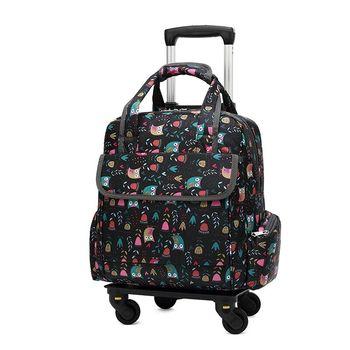 2019 nowa odpinana torba na kółkach torebka 2-w-1 dziewczyna stylowa torba na kółkach walizki kobiety torba na zakupy na kółkach torba na kółkach Rolling bagaż tanie i dobre opinie GraspDream Oxford Spinner 32cm Unisex 38cm Bagaż podręczny ons 15cm black red purple Travel bag Luggage bag Suitcase