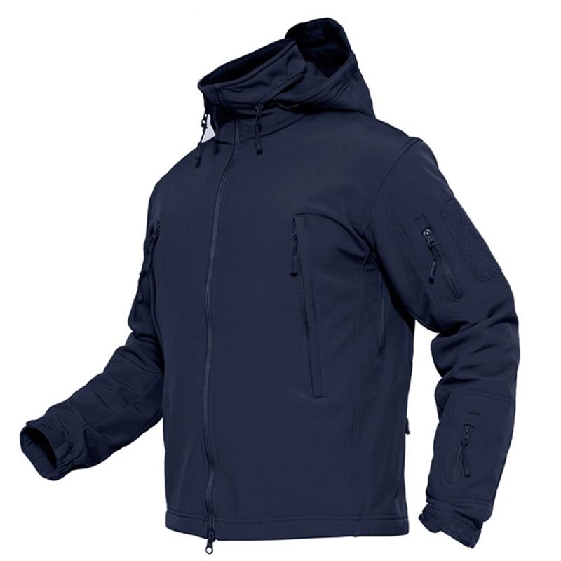 Homme printemps armée amovible à capuche coupe-vent veste militaire manteau imperméable veste tactique hiver doux Shell chasse vestes