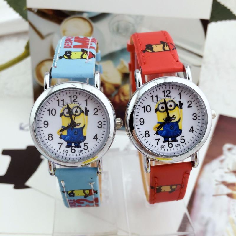3D Eye Despicable Me Child Watch Precious Milk Dad Cute Children Clock Baby Kids Quartz Wrist Watches For Kid Girls Boys Gift