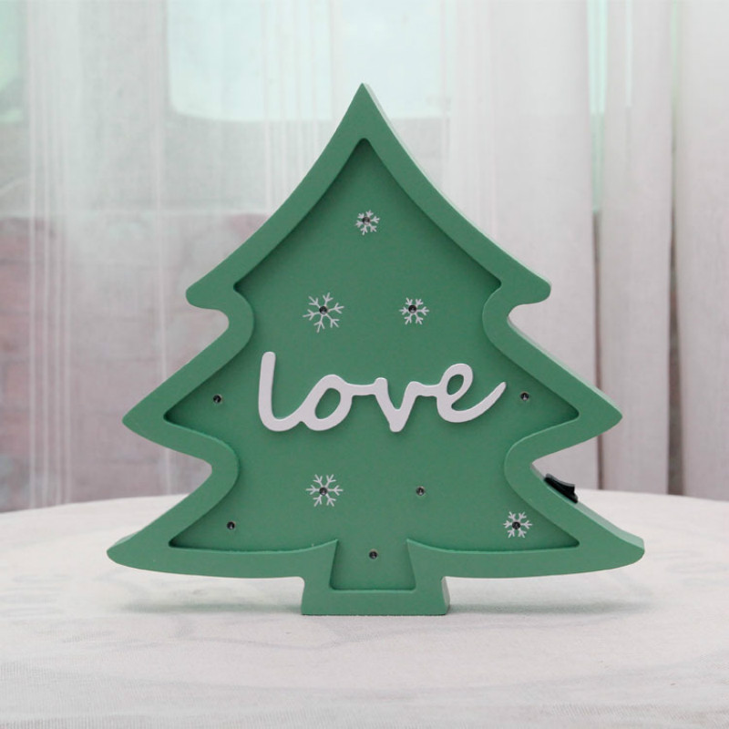Christmas Tree Modeling light Xmas Decoration light as gift Home Baby room Decor Safty Battery Powered IY304123-30