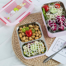 Food Container Bento Box Double Layer Stainless Steel Lunch for Kid Adult Healthy Material Portable Storage