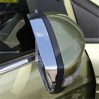 2PCS Side Rear Mirror Cover Shelter Rain For Ford Escape Kuga 2013 2014 2015 2016 2017