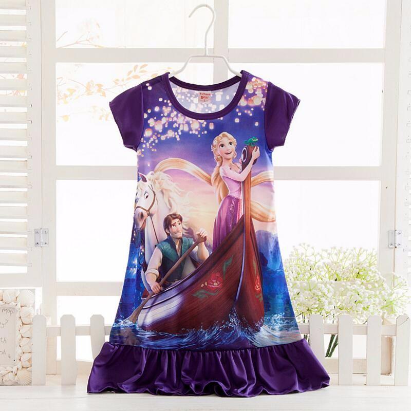 Anna Elsa Girls Dress Snow Queen Princess Dresses for Girls Night Gown Pajamas Baby Dress Kids Sleepwear Pyjamas Clothes 17
