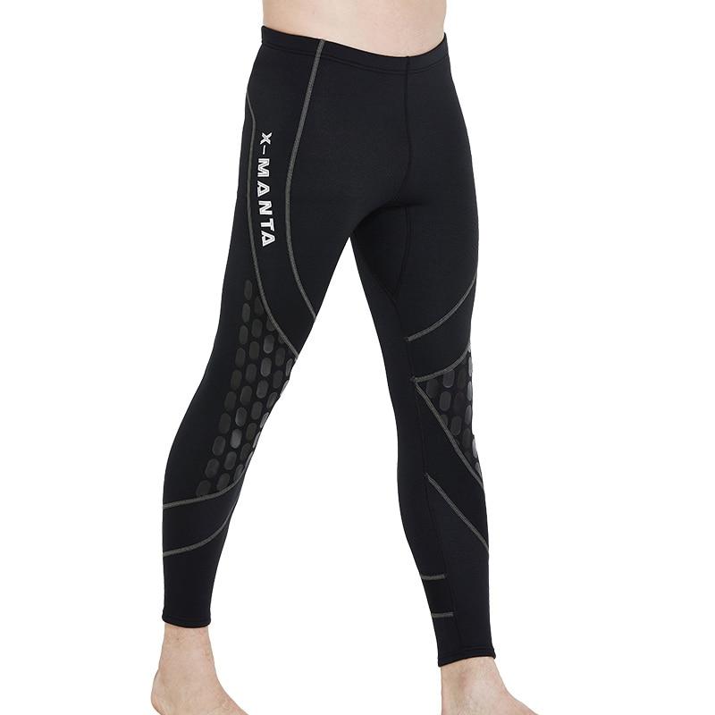 Men's Wetsuit Tights 1.5 mm Neoprene for Man Swim Tights Diving Pant Wet Suit Bottom Leggings Solid Black Scuba Snorkeling Swim marmot midweight bottom cocona man black