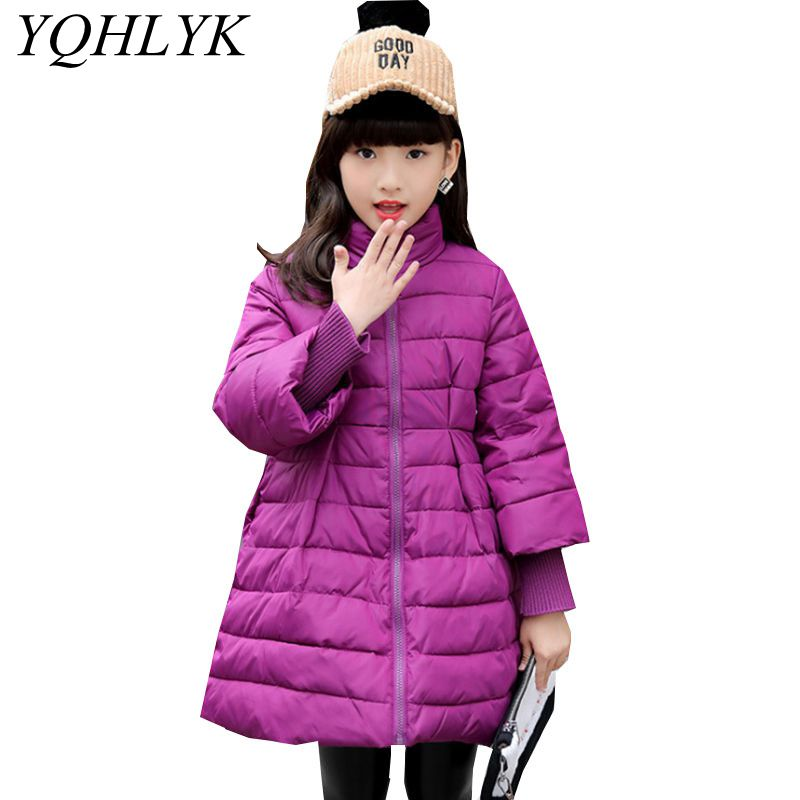 New Fashion Winter Cotton Girls Coat 2018 Korean Children Zipper High Collar Thick Warm Jacket Sweet Casual Kids Clothes W118 2016 autumn and winter fashion explosion models men s warm thick cotton korean slim casual jacket