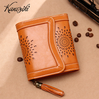 Hollow Out Women Leather Wallet New Fashion Short Female Purse Festival Birthday Gift Present