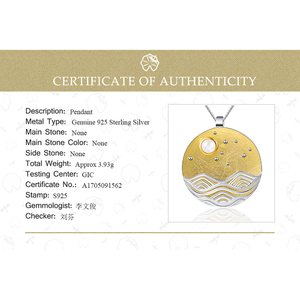 Image 5 - Lotus Fun pendentif sans chaîne, Design clair de lune, bijoux fins naturels faits à la main, pour femmes