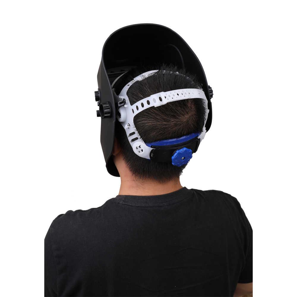 Солнечная энергия Автоматическая Затемняющая Сварочная маска TIG точечный сварочный шлем с большим окном и 4 датчиками внешняя регулировка