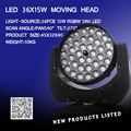 Beam Moving Head 5R Beam 200W Touch Screen with 36x15w rgbwa 5in1 dmx stage light wash moving heads