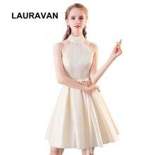 2020 new halter neck satin beautiful elegant bridemaide party dress short 15 yea