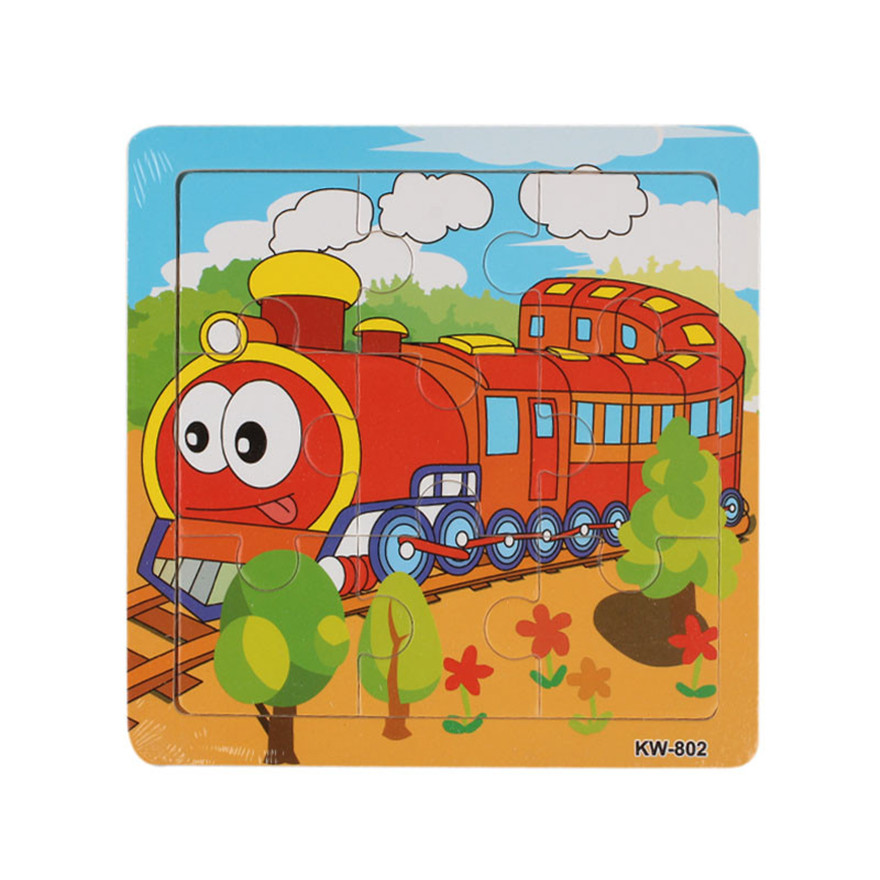 Fashion Wooden Train Jigsaw Toys For Kids Education And