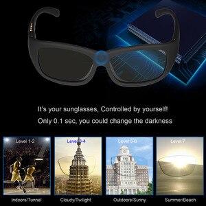 Image 2 - نظارات شمسية معتمة بتحكم في لون إلكتروني متغير ، نظارات شمسية للرجال ، نظارات شمسية رياضية ، نظارات شمسية LCD