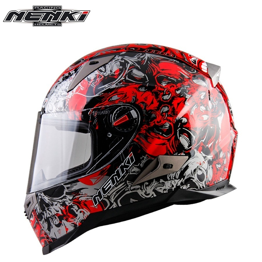 Free shipping 1pcs NENKI DOT ABS ECE Full Face Helmet Racing Off-Road Casque Capacete Approved Moto Helmets Motorcycle Helmet