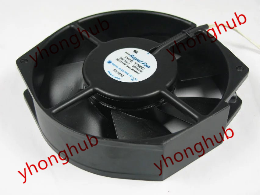 Free Shipping For Royal Fan TYPE T795C AC 200V 36/31W 2-wire 172x150x38mm Server Round fan спортивные носки jordan