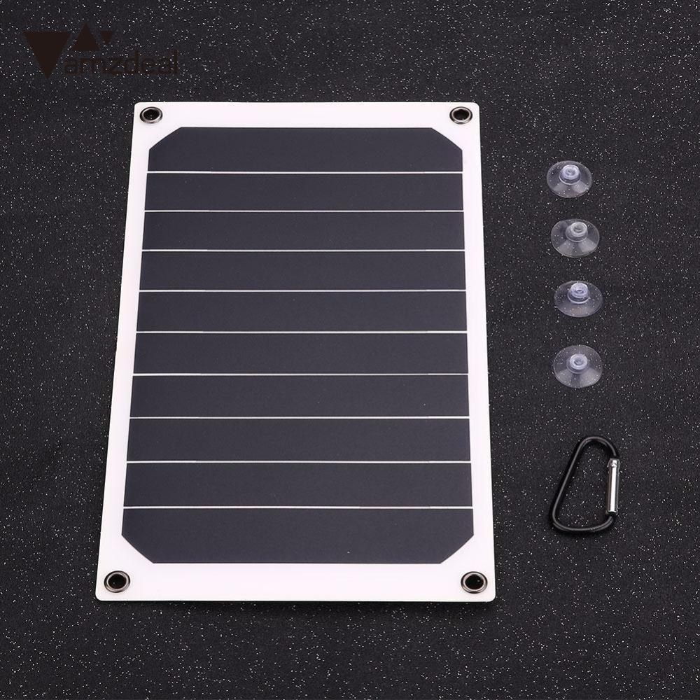 amzdeal Flexible Solar Charging Board Solar Panel charger Portable Power Bank Smart Mobile Home Outdoor Travelling Power Supply