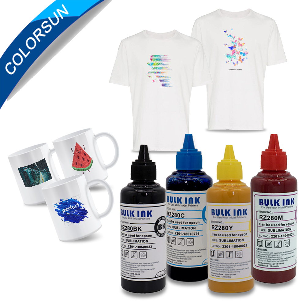 400ML Refill Sublimation Ink For Epson S22 WF4630 WF4640 WF5110 Printers Heat Transfer Ink Heat Press Sublimation Ink For Epson400ML Refill Sublimation Ink For Epson S22 WF4630 WF4640 WF5110 Printers Heat Transfer Ink Heat Press Sublimation Ink For Epson