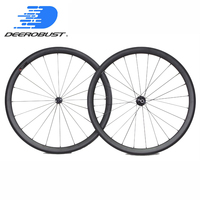 1342g Super light 700c 38mm x 23mm Road Bicycle Clincher Carbon Wheels Bike Wheelset Bitex Powerway Novatec Hubs 3K Twill UD 12K