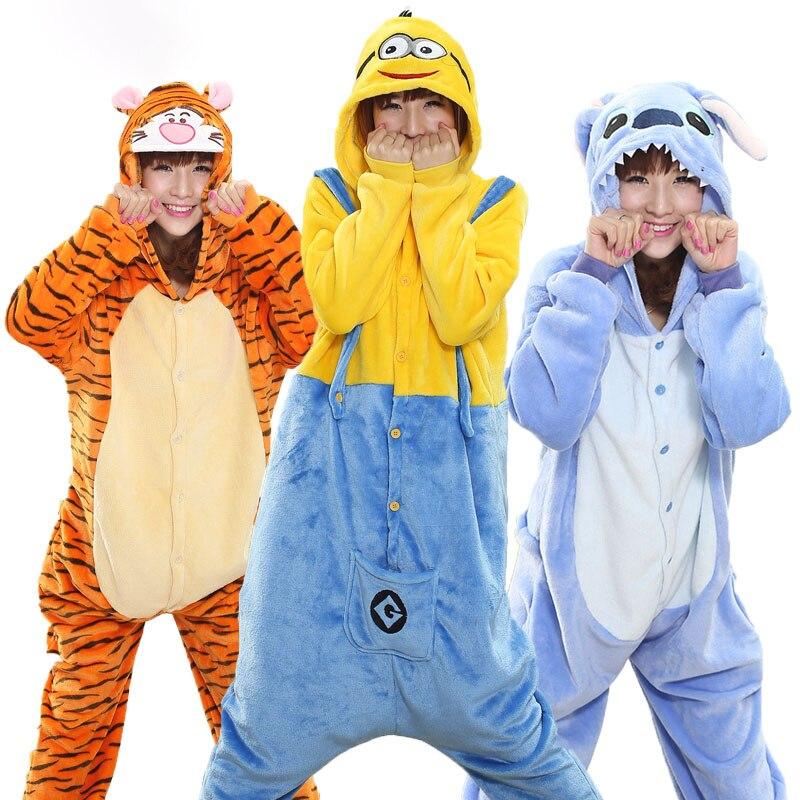 Fashion kigurumi unisex Costume Halloween Animal unicorn Pajamas Sleepwear Onesie pijama sets Panda Stitch unicornio Cartoon