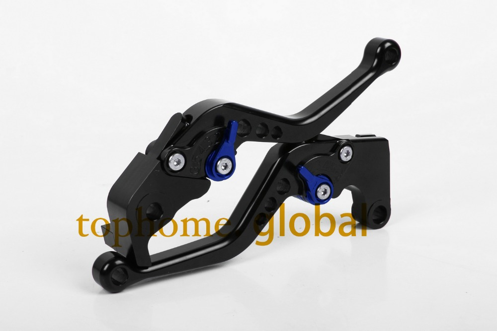 все цены на Motorcycle Accessories For Yamaha FJR 1300 2004-2013 2005 2006 2007 Short Black Handlebar CNC Clutch Brake Lever Brake Lug grips онлайн