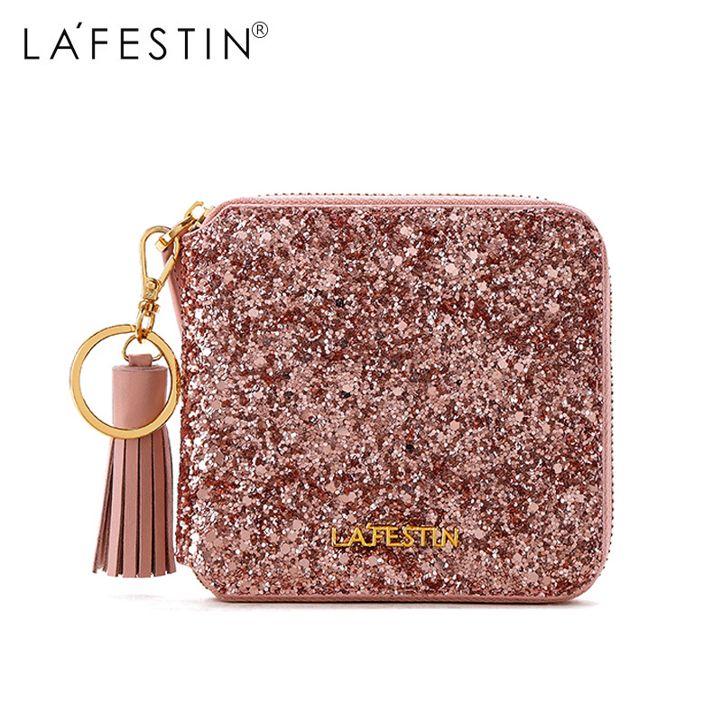 2d200bcd88f2 Lafestin Brand Wallet 2018 New Glitter Sequin Purse Luxury Fashion Sequin  Coin Purse Lady Credit Card Holder Female Wallet