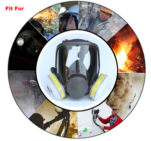 Image 5 - 9 In 1 Painting Spraying Safety Respirator Gas Mask same For 3M 6800 Gas Mask Full Face Facepiece Respirator