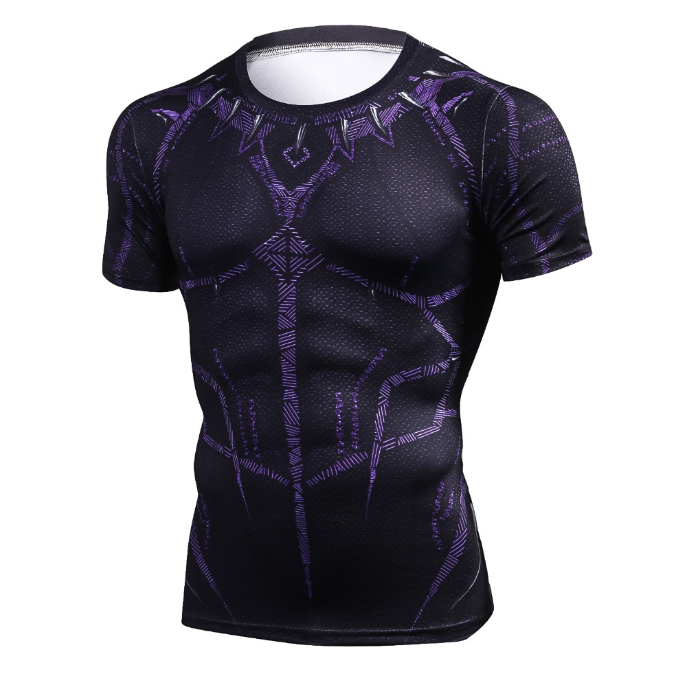 Black Panther T Shirt Compression Shirt Tops 1