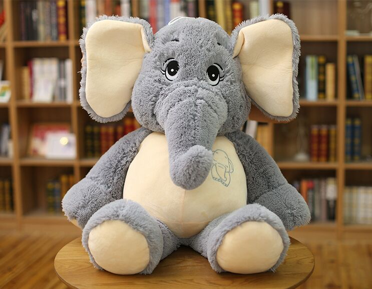 Middle lovely plush elephant toy big stuffed elephant doll pillow doll about 98cm big creative plush elephant toy lovely stuffed jungle elephant gift doll about 80cm