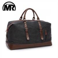 Original Z L D Canvas Leather Men Travel Bags Carry On Luggage Bags Men Duffel Bags