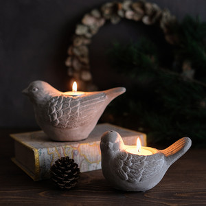 Image 2 - Silicone Concrete Mold 3D Bird Shape Candlestick Molds DIY Succulent Plants Making Mould Home Desk Decorating Tool