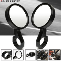 1 Pair 1.75 inch Round Side Rear View Mirrors for Polaris Ranger and RZR and RZR S and XP Car Safety Back Seat Rearview Mirror