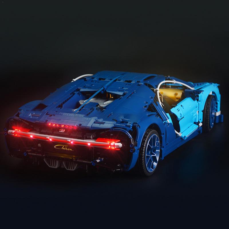 Lumière led kit d'éclairage bricolage Lumineux blocs de construction SEULEMENT Pour LEGO 42083 Bugatti Chiron Ensemble Technique - 6