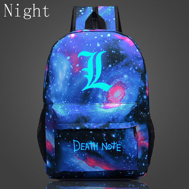 Death Note Luminous Backpack Shoulder Bag