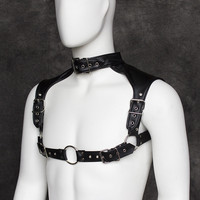 Adult Products Chastity Belt Leather Harnesses Bdsm Fetish Body Harness Male Roleplay Toys Chest Strap Erotic Sex Toys For Men