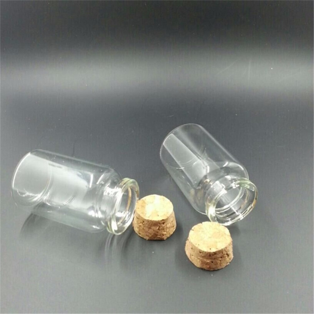 Mini Glass Bottle Vials Charms Pendants Clear Transparent Bottles With Cork